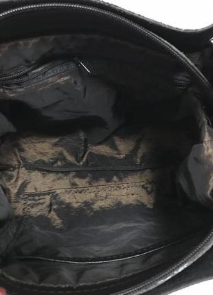 Красивая сумка, цвет черный, экокожа турция4