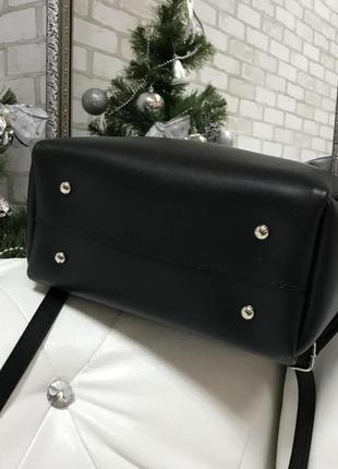 Красивая сумка, цвет черный, экокожа турция3