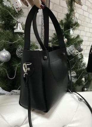 Красивая сумка, цвет черный, экокожа турция2