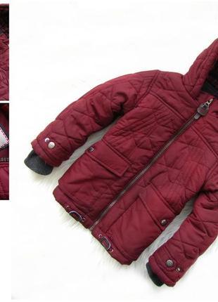 Стильная теплая куртка парка с капюшоном tu