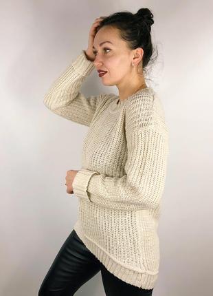 Удлиненный асимметричный свитер5 фото