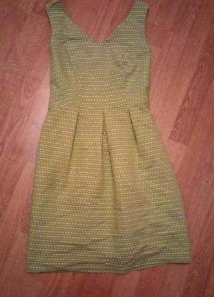 Платье салатовое зеленое на подкладке1 фото