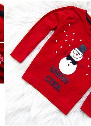 Стильная кофта matalan свитшот снеговик  новогодний свитер санта новый год