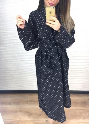 Классный халат, черный, l2