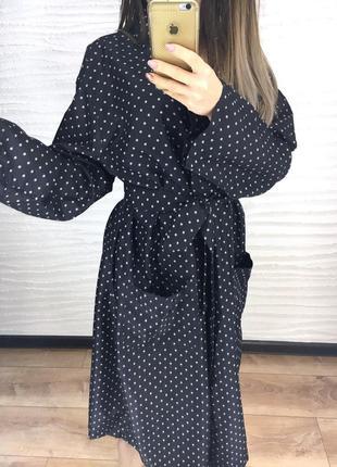 Классный халат, черный, l3