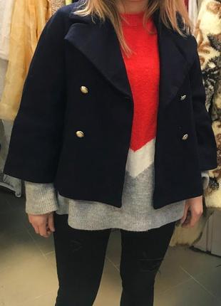 Теплое шерстяное пальто дорогого бренда max&co3 фото