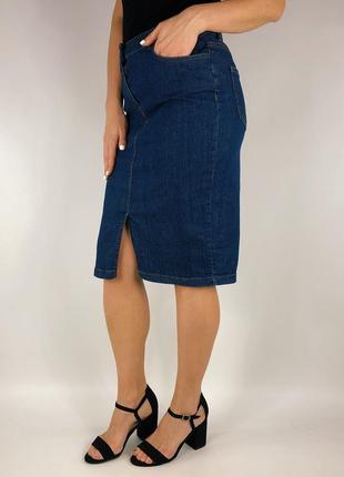 Джинсовая юбка карандаш1 фото
