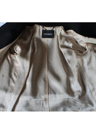 Теплое шерстяное пальто дорогого бренда max&co4