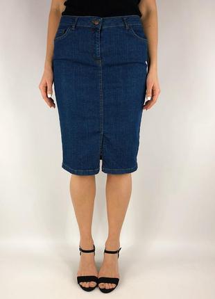 Джинсовая юбка карандаш5 фото