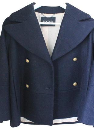 Теплое шерстяное пальто дорогого бренда max&co1 фото