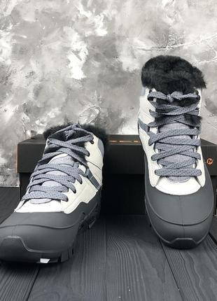 Белые, бело-серые зимние женские ботинки merrell оригинал 36 37 38 39 40 412 фото