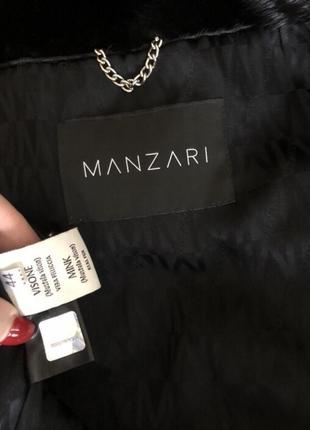 Норковая шуба manzari, nafa, 80 см поперечка чёрная, 44-46,4 фото