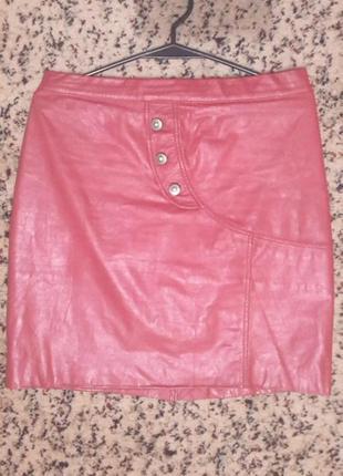 Шикарная кожаная юбка1