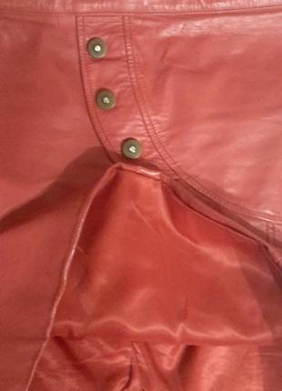 Шикарная кожаная юбка3