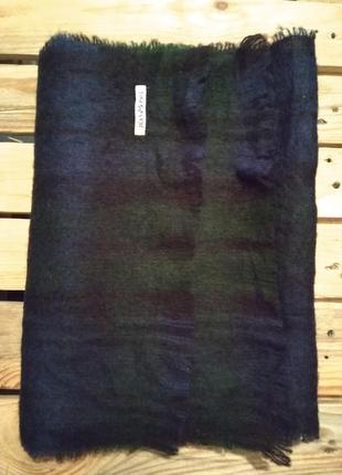 Luxuary! большой шерстяной шарф в клетку, палантин (франция)