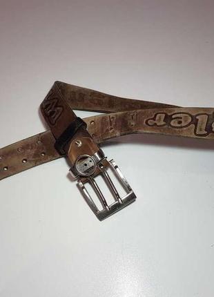 Ремень wrangler, кожаный, 93*3,5 см