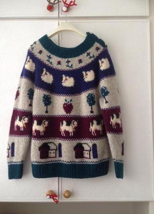 Шерстяной милый свитер1