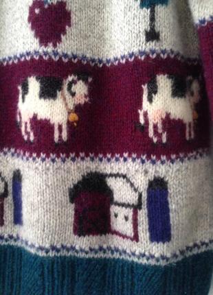 Шерстяной милый свитер2