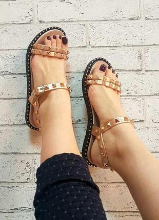 Скидка!новые,красивые,стильные,фирменные летние,легкие босоножки цвет золото тренд р.36-371 фото