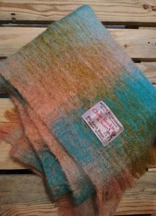 Огромный шарф, палантин шерсть + мохер