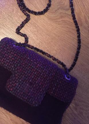 Стильная модная шикарная сумочка из твида2