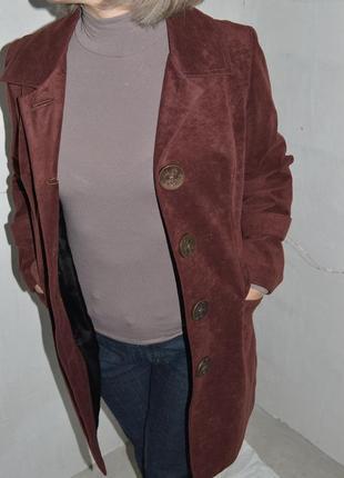 Замшевый кардиган, плащ, легкое пальто 40-42р-р5 фото