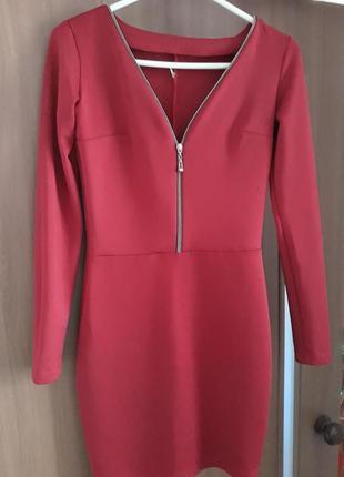 Красное платье1 фото