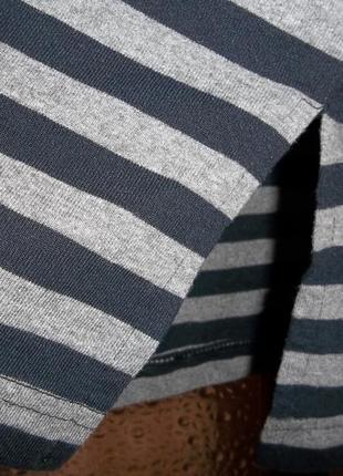 Повседневный полосатый наряд - трикотажное платье миди j.a.c.k.5