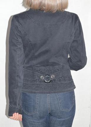 Приталенный пиджак, ветровка, легкая куртка, коттон 40-42р-р3