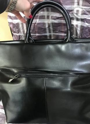 Необычная кожаная сумка с отворотом2
