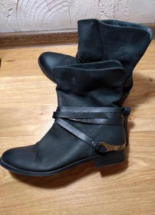 Демисезонные ботинки100% кожа roberto santi vera gomma1 фото