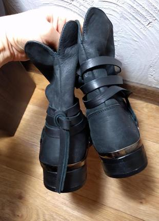 Демисезонные ботинки100% кожа roberto santi vera gomma2 фото