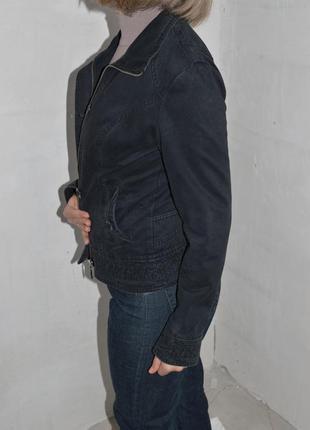 Приталенный пиджак, ветровка, легкая куртка, коттон 40-42р-р4
