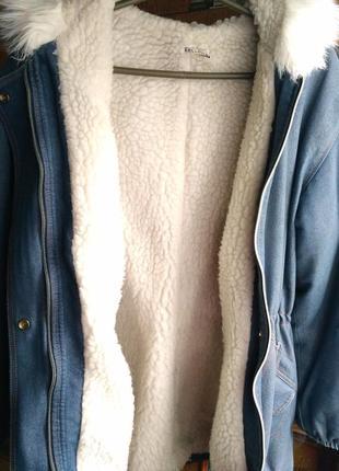 Джинсовая куртка-парка на меху2 фото
