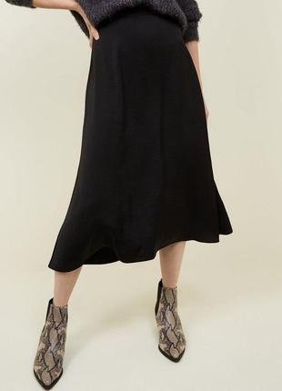 Топовая трикотажная юбка миди!1 фото