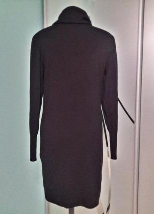 Трикотажное теплое платье воротник-хомут2