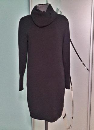 Трикотажное теплое платье воротник-хомут1