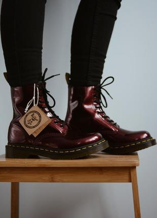 Dr. martens 1460 w vegan chrome oxblood🍒