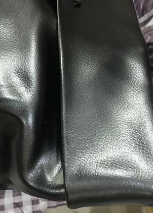 Необычная кожаная сумка с отворотом5