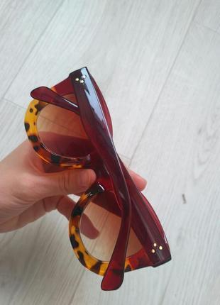 Скидка!новые,стильные,тренд,модные,солнцезащитные очки,поляриз градиент лео принт5 фото