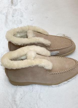 Женские замшевые тёплые зимние ботинки1