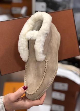 Женские замшевые тёплые зимние ботинки3