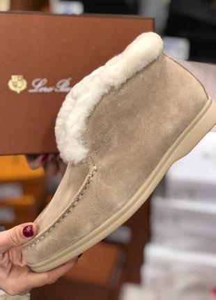 Женские замшевые тёплые зимние ботинки2