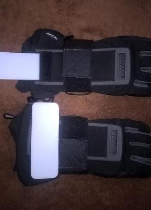 Лыжные термо перчатки reusch с gore-tex,ладонь натуральная кожа