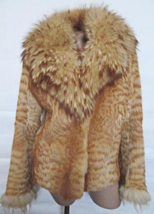 Шуба,шубка ,полушубок натуральный мех камышовый кот-енот! 46-48р1