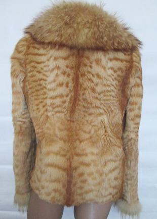 Шуба,шубка ,полушубок натуральный мех камышовый кот-енот! 46-48р2