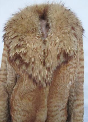 Шуба,шубка ,полушубок натуральный мех камышовый кот-енот! 46-48р3