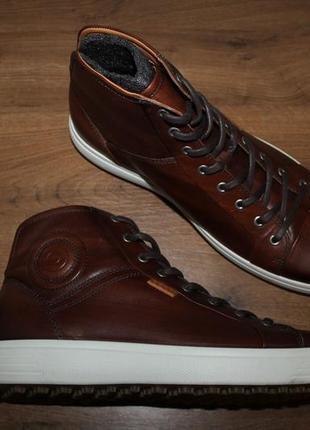 Кожаные ботинки ecco soft golf, 45 размер