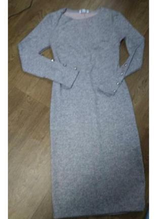 Платье ангоровое с пуговицами3