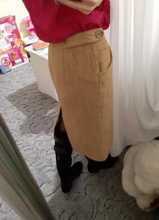 Теплая юбка миди от h&m цена 200 грн только сегодня!2 фото